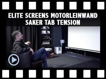 Tension Motorleinwand Elite Screens Saker Tab Tension Max White Test