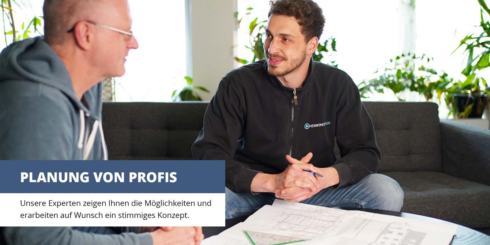 Unsere Experten zeigen Ihnen die Möglichkeiten und erarbeiten auf Wunsch ein stimmiges Konzept.