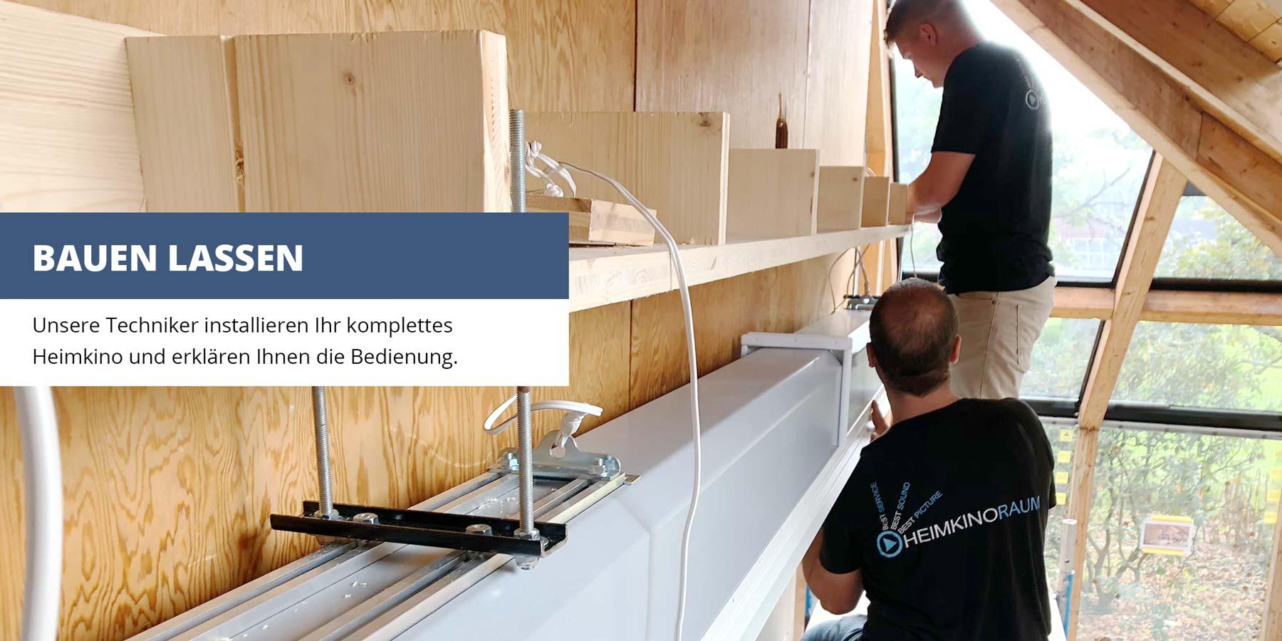Unsere Techniker installieren Ihr komplettes Heimkino und erklären Ihnen die Bedienung.