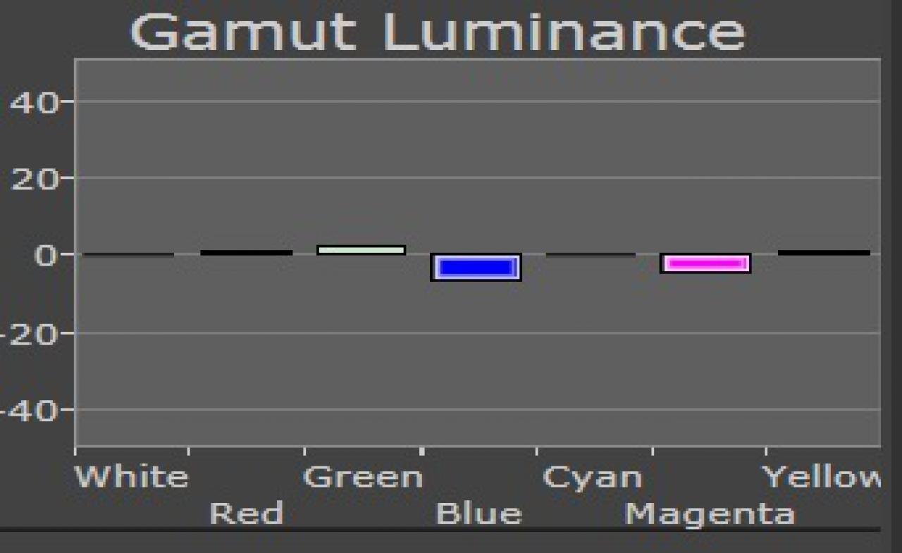 Samsung Helligkeitsverteilung im Bildtest