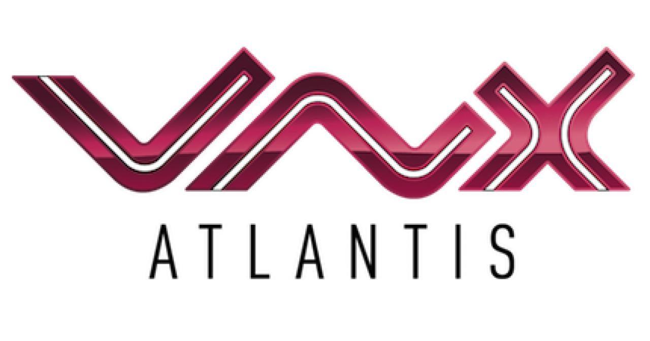 VnX Atlantis Logo Heimkino Motorleinwand Deckeneinbau Tension