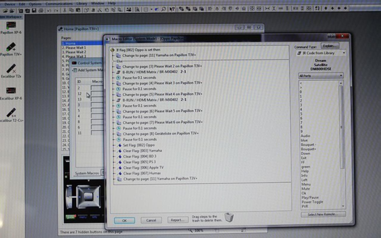 Programmierung Design und Struktur der RTI Steuerung