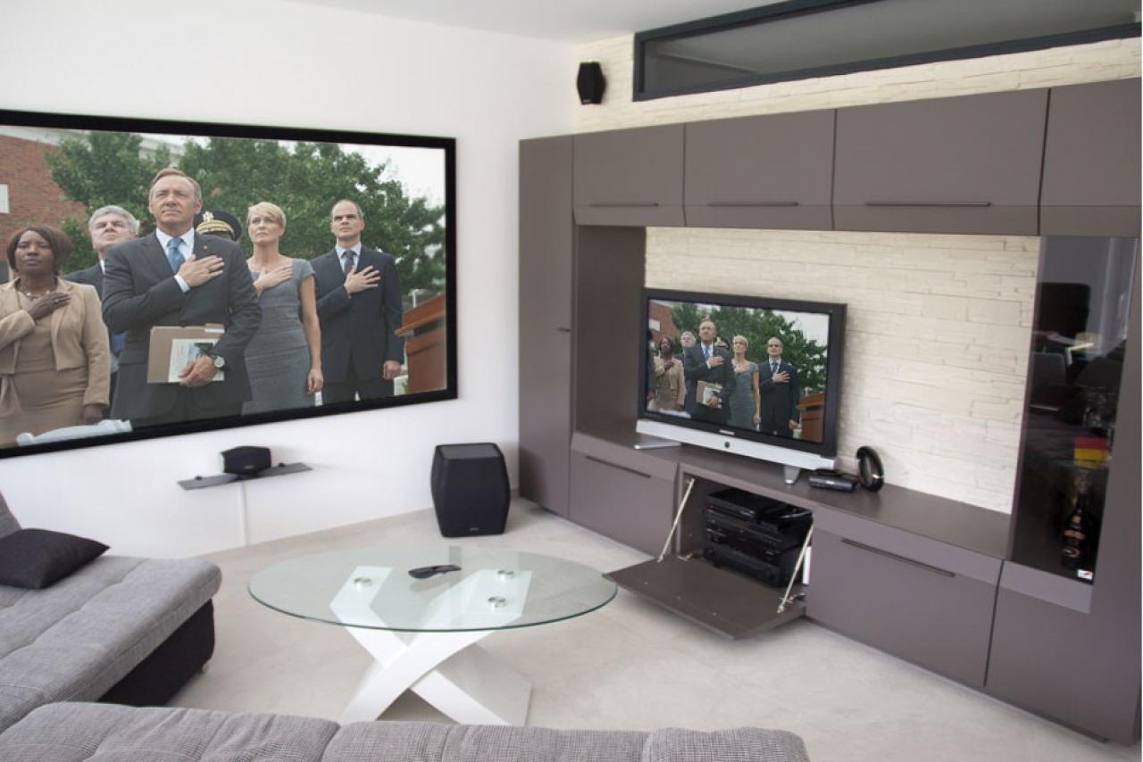 beamer wohnzimmer. Black Bedroom Furniture Sets. Home Design Ideas