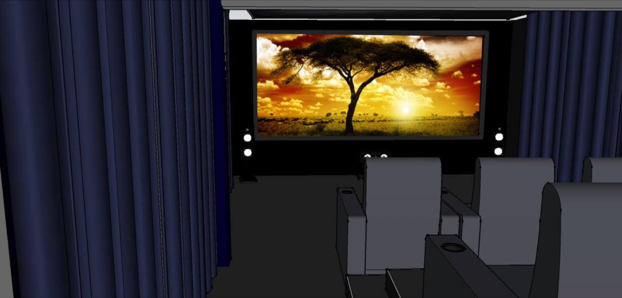 3D-Planung - Blick aus der 2. Sitzreihe