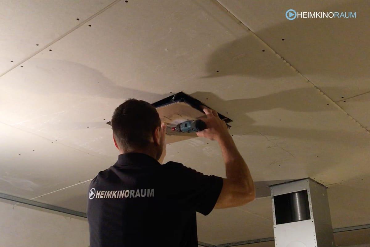 Deckenlautsprecher Installation