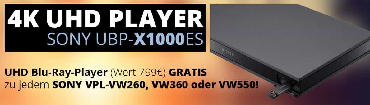 Sony 4K UHD Player gratis!