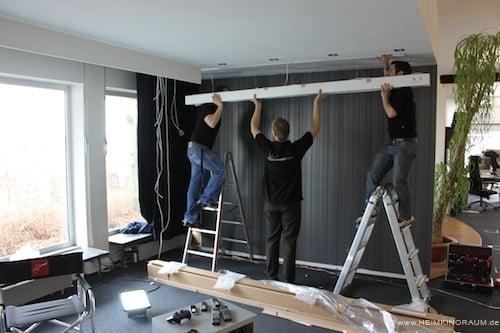 Erster Umbau 2012 - Heimkinoraum.de
