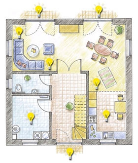 licht per fernbedienung steuern. Black Bedroom Furniture Sets. Home Design Ideas