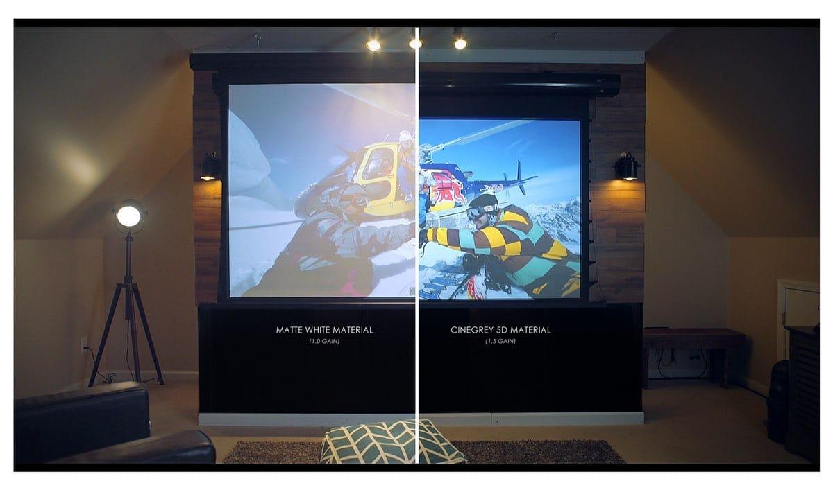 elite screens saker tab tension cinegrey 5d leinwand. Black Bedroom Furniture Sets. Home Design Ideas