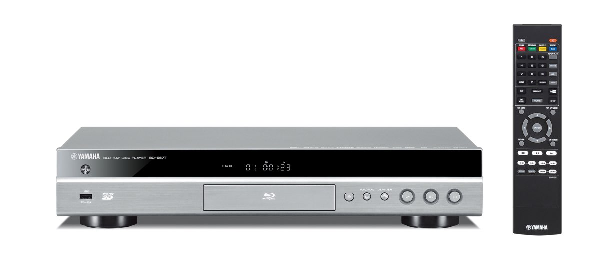 Yamaha BD-S681 3D Blu-ray Player silber