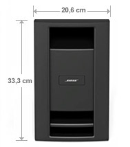 Bose Lifestyle 535 Serie III Subwoofer Abmessung