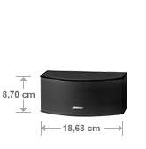 Bose Lifestyle 535 Serie III Center Abmessung
