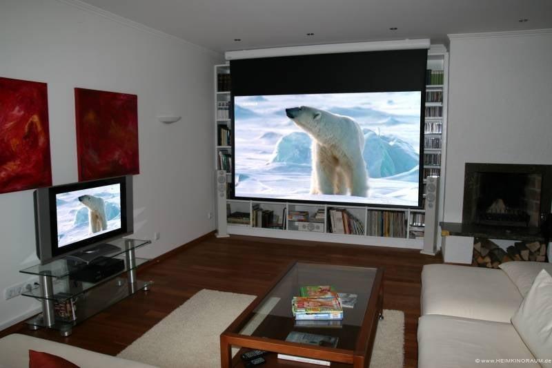 heimkino wohnzimmer leinwand – Dumss.com