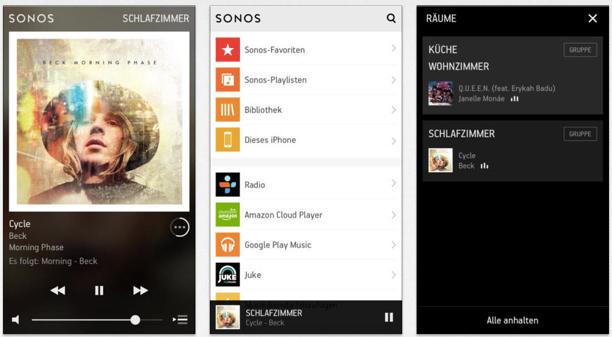 Sonos Steuerung  mit Smart-Phone