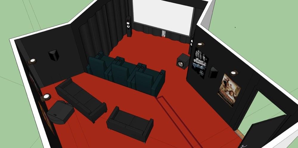 Heimkino 3D Planung