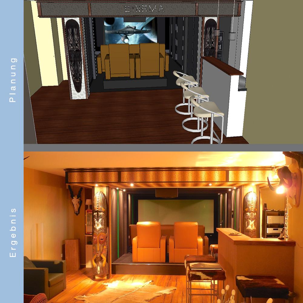 Heimkino 3D Planung und Ergebnis