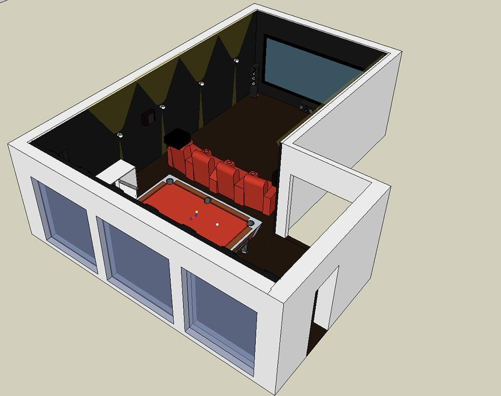 Raumplanung in 3D Heimkino