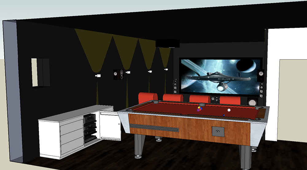 Heimkino Planung in 3D