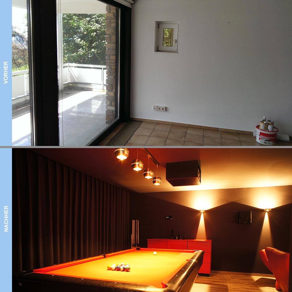 Vorher und Nachher Heimkino Casino