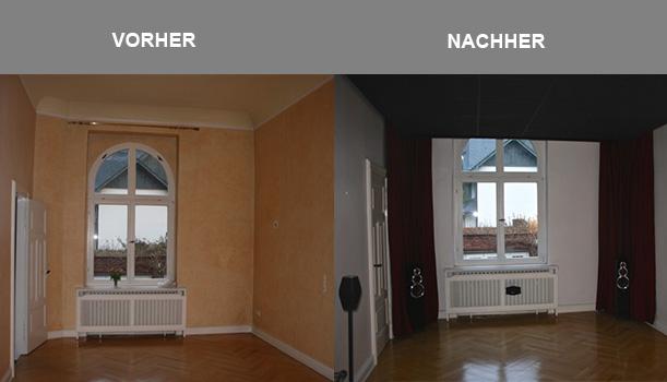Vorher und Nachher Vergleich Heimkino