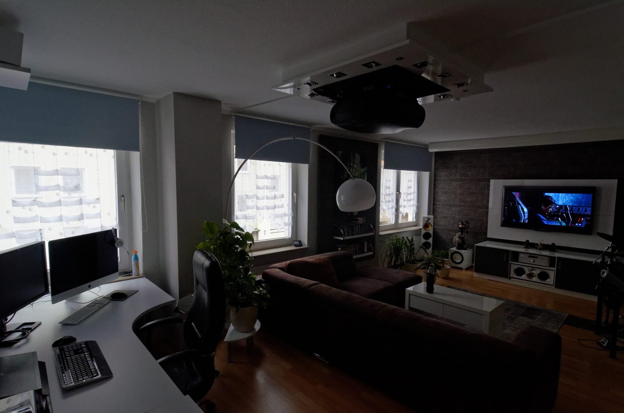 Heimkino Dual Lsung Fernseher Und Beamer