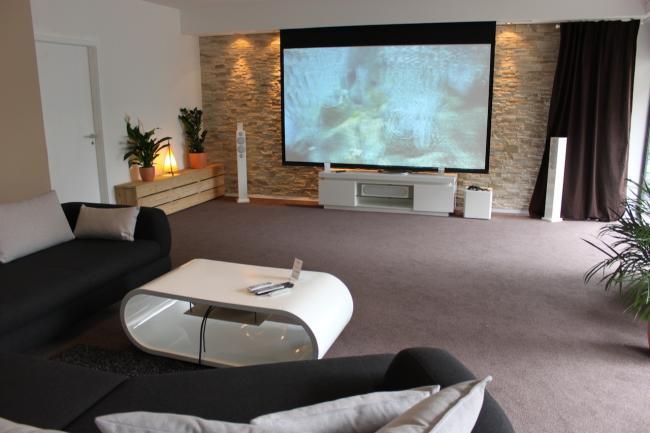 Wohnzimmer beamer die neuesten innenarchitekturideen - Heimkino wohnzimmer ...