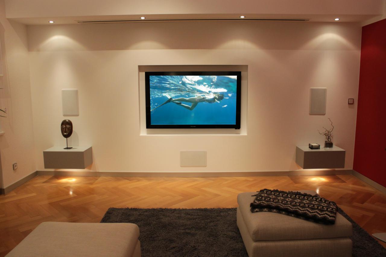 Fernseher In Einer Trockenbauwand Eingebaut