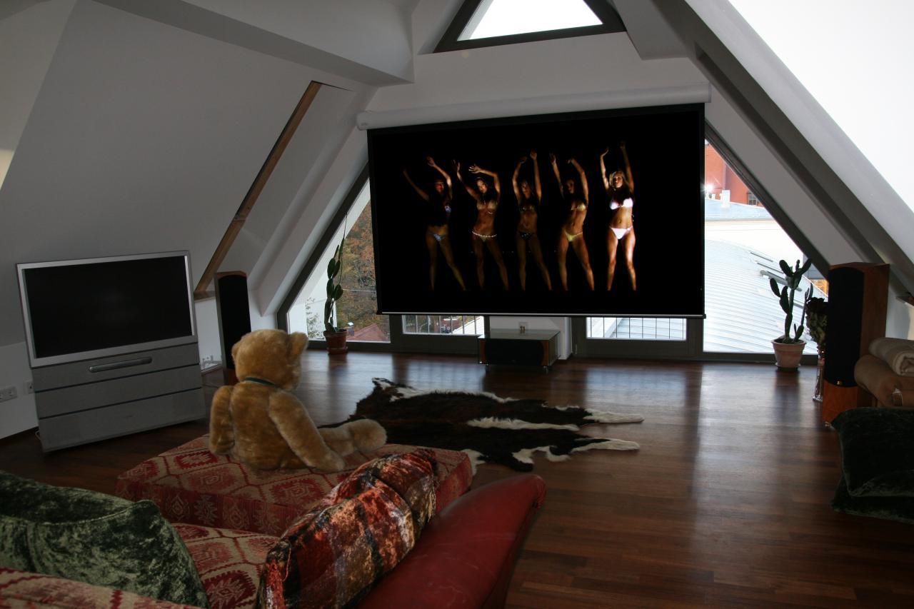 beamer oder fernseher oder beides. Black Bedroom Furniture Sets. Home Design Ideas