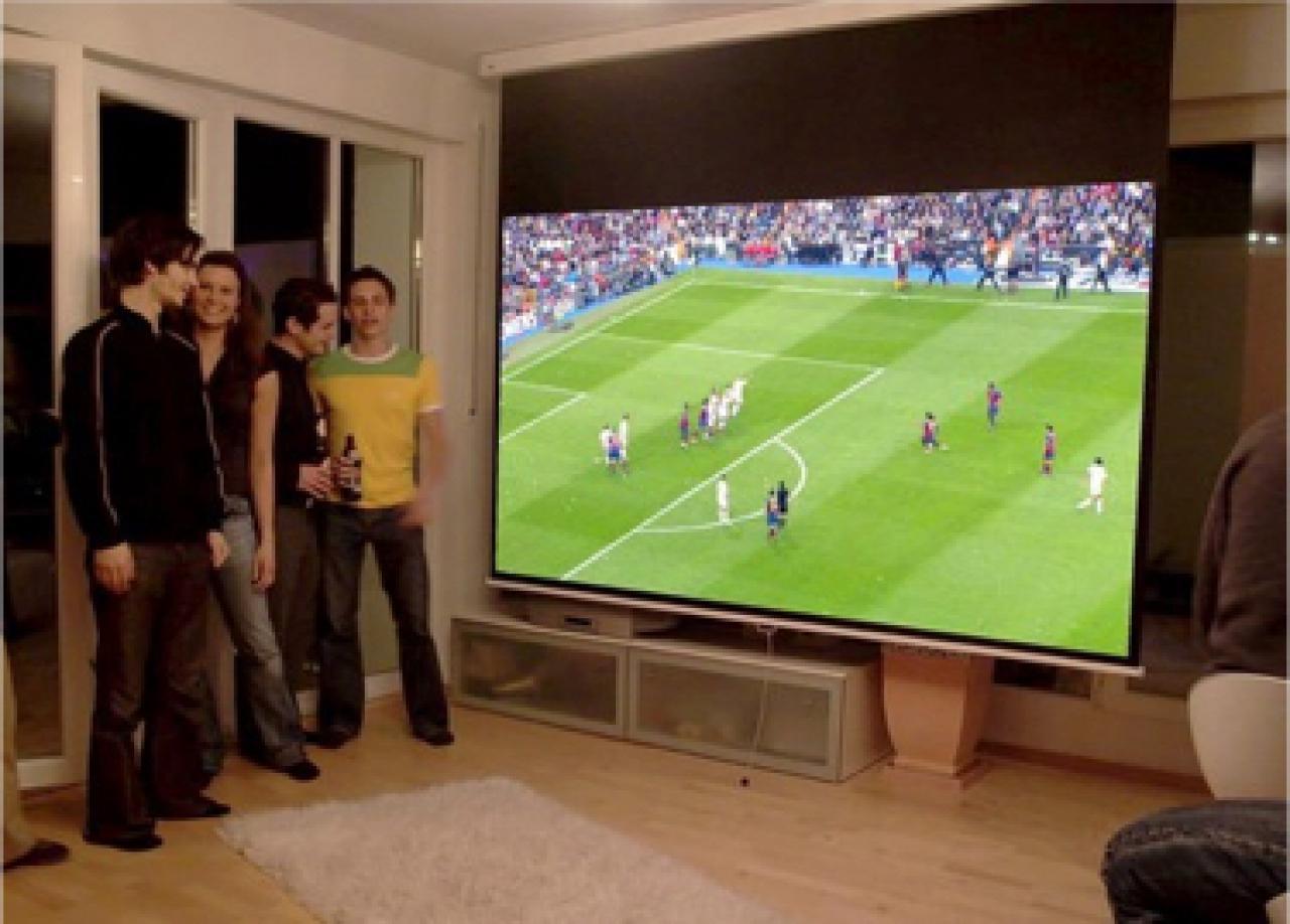 fussball schauen mit heimkinoraum em 2016. Black Bedroom Furniture Sets. Home Design Ideas