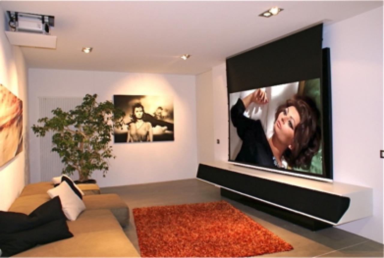 beamer im wohnzimmer. Black Bedroom Furniture Sets. Home Design Ideas