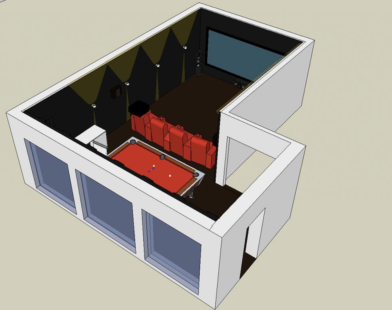 3D Planung Heimkino