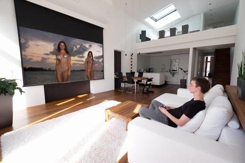 die richtige heimkino leinwand hier mehr erfahren. Black Bedroom Furniture Sets. Home Design Ideas