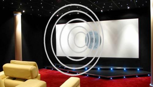 Akustisch transparente Leinwand fürs Heimkino