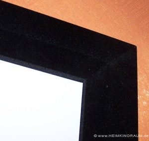 Heimkino Rahmenleinwand Zoom