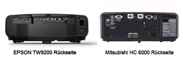 Rückseite Vergleich Epson Mitsubishi