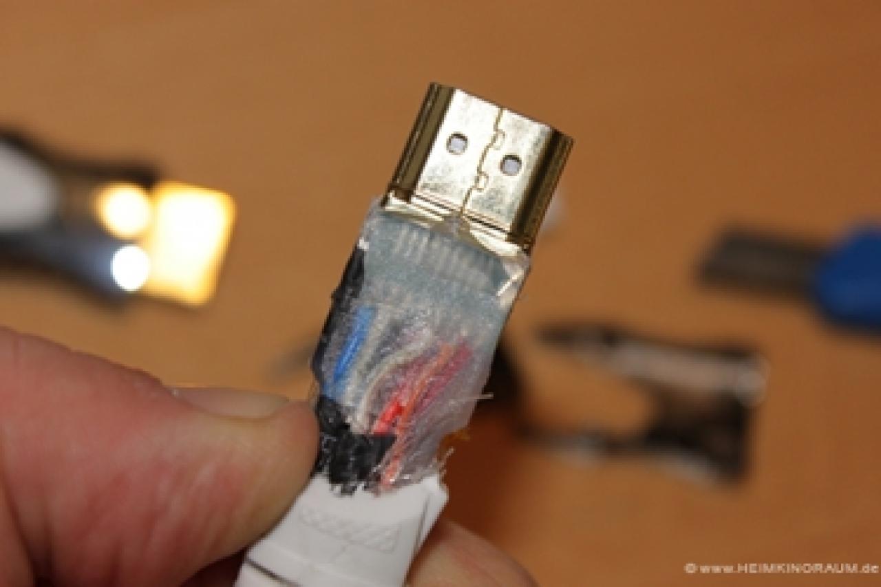 Mit den inneren Datenleitungen steht und fällt die Zuverlässigkeit eines HDMIKabels